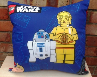 Star Wars C3PO & R2D2,  Stormtrooper or Darth Vader Fabric Cushion - Handmade by Alien Couture