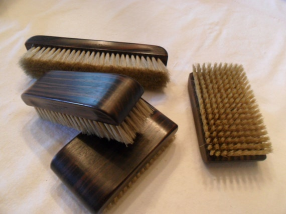 vintage clothes brushes 1950s wood owens brush co four