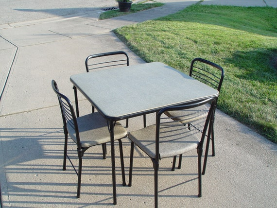 RESERVED FOR AMY 1950 39 S Card Table And 4 Chairs Cosco