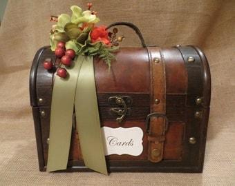 Customize Your Decoration - Wedding Trunk, Wedding Card Holder, Party Card Box, Wedding Money Box, Wedding Suitcase, Rustic Wedding Box