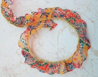 Lace Trim Multi-Color Scalloped Edge