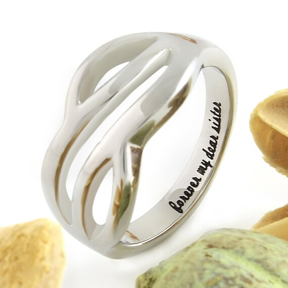 Sisters Forever Infinity Ring