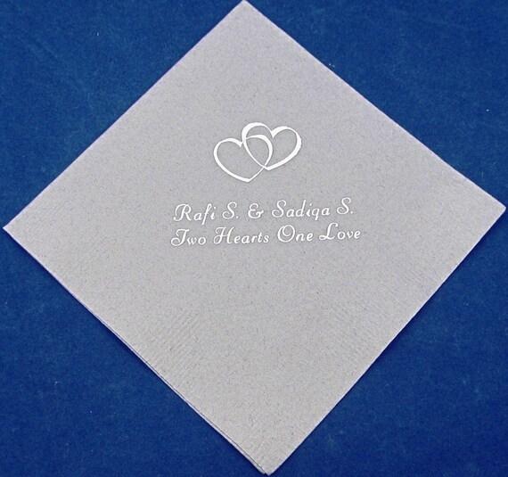 Items Similar To 125 Personalized Beverage Napkins Wedding Favors Wedding Personalized Napkins
