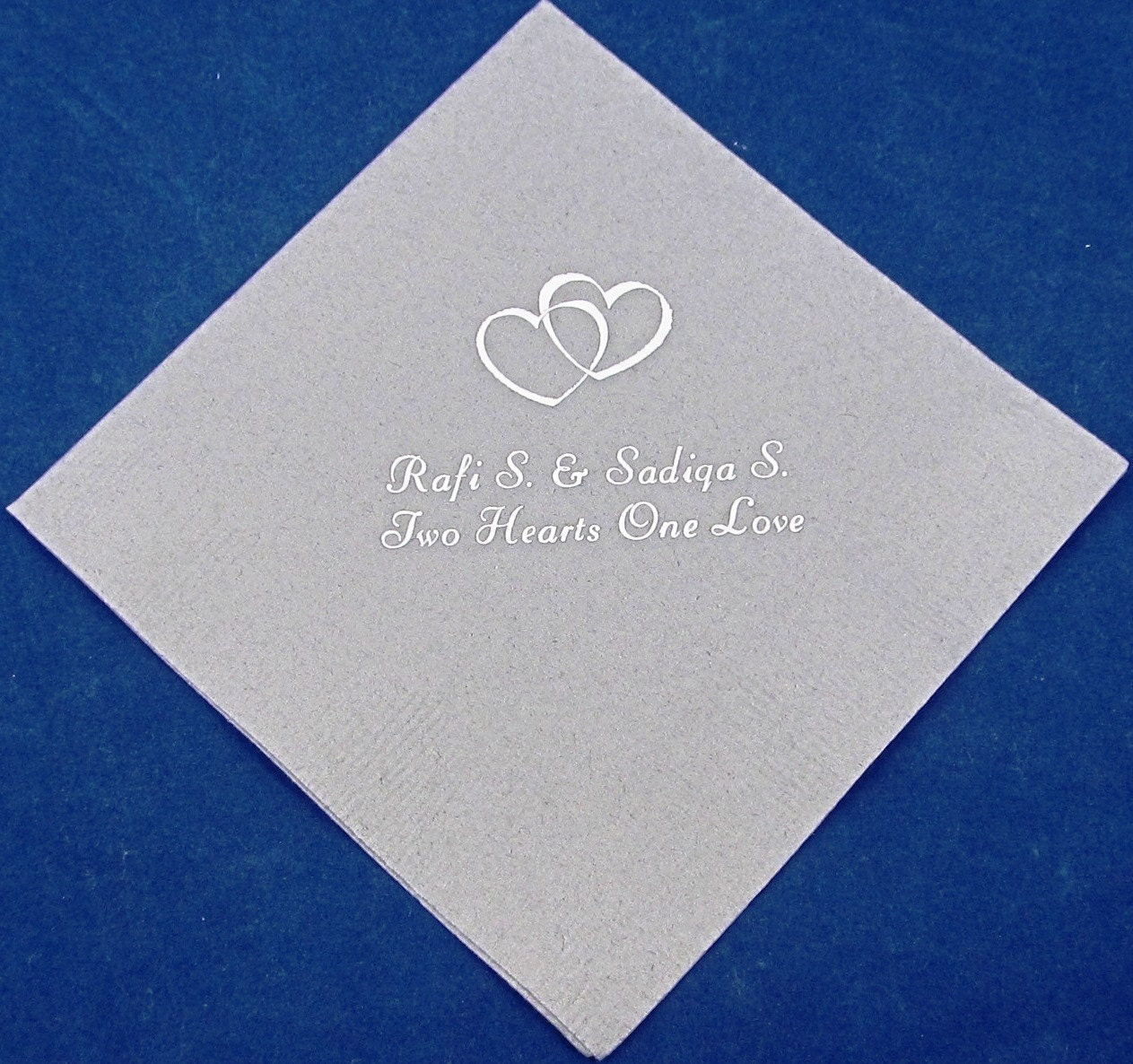 125 personalized beverage napkins wedding by presentsforever for Printed wedding napkins
