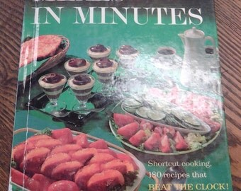 On Sale Better Homes and Gardens Meals in Minutes Cookbook 1963