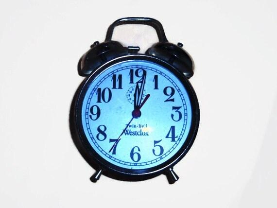 Retro Westclox Twin-bell Alarm Clock-wind Up Alarm