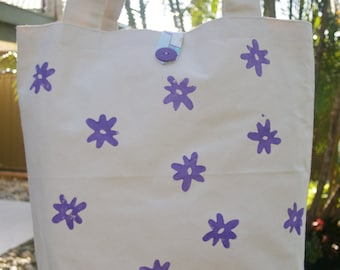 Bright and Cheerful Canvas Tote