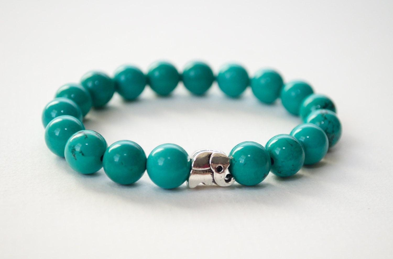 turquoise bracelet silver elephant bracelet gemstone. Black Bedroom Furniture Sets. Home Design Ideas