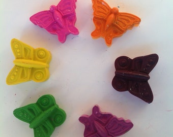Butterfly Crayons 5 party favors choose 5 colors