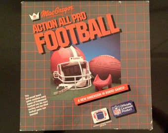 Vintage Action All Pro Football Game 1984