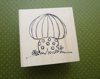 crazy cremini  wood mounted rubber stamp KP5125G