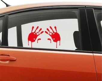 Walking dead Bloody Handprints Zombie Attack