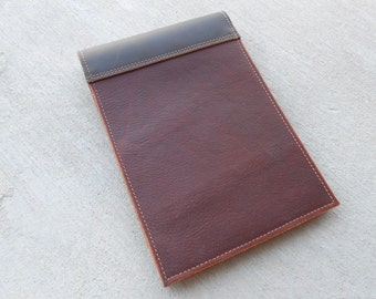 Two Toned Leather Steno notepad Case