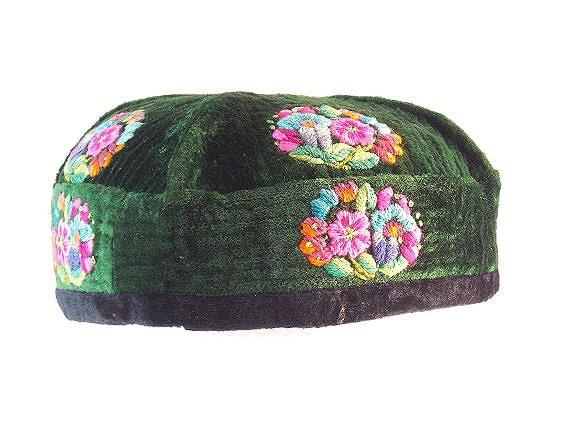 vintage taqiyah cap kufi cap topi cap embroidered cap
