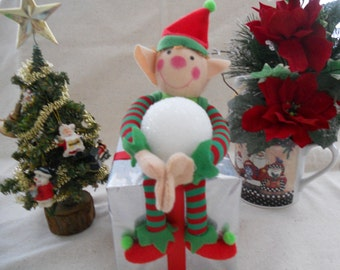 Boy Christmas Elf, Christmas Elf, Christmas Present Elf, Elf Decor, Christmas Decor, Elf
