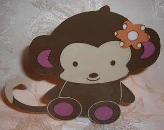 Jacana Monkey nursery baby shower decorations, set of 12, adorable!
