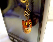 Phone jewelery/dust plug - Little owl