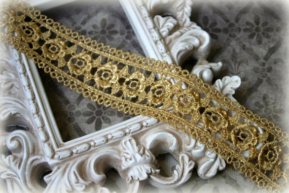 Lace Trim Venice Lace for Altered Art, Costumes, Lace Jewelry, Headbands, Sashes, Sewing, Crafts LA-193