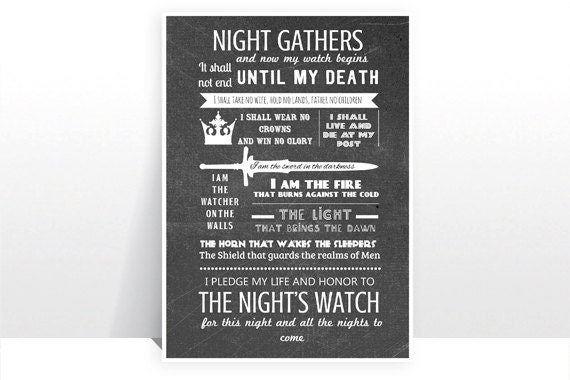 game of thrones print