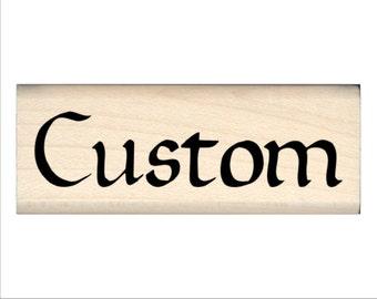 Custom Name Rubber Stamp for Kids