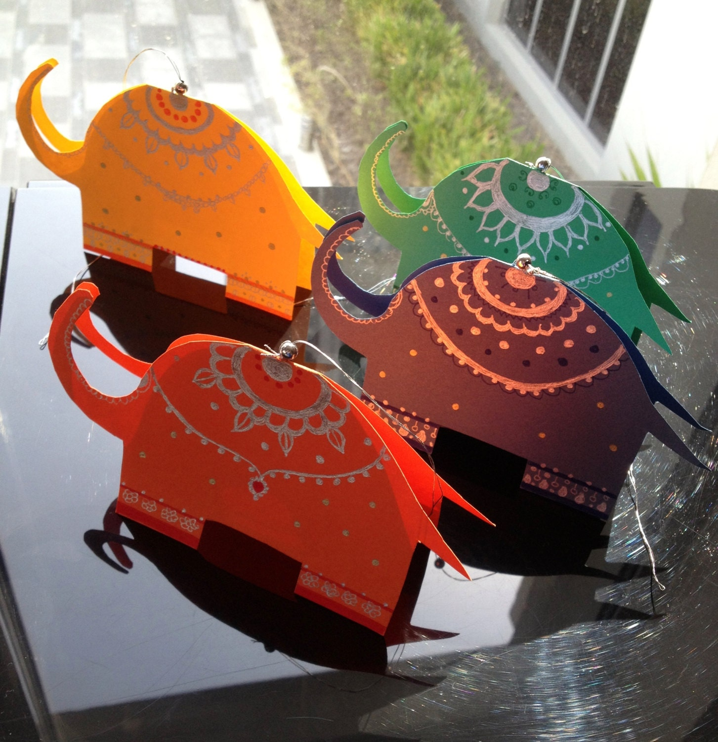 India Themed Party Tags/tent Cards/gift Tags By