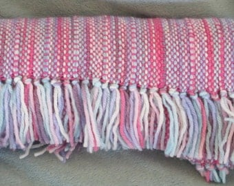 1980s Bridesmaids - Hand woven merino wool blend scarf