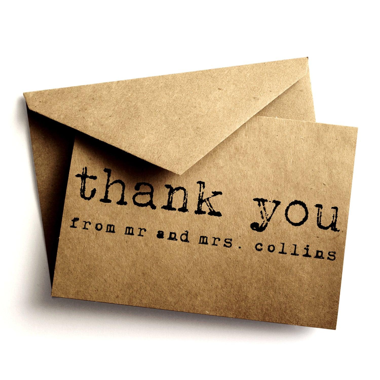 thank you kraft card kraft simple wedding thank you card