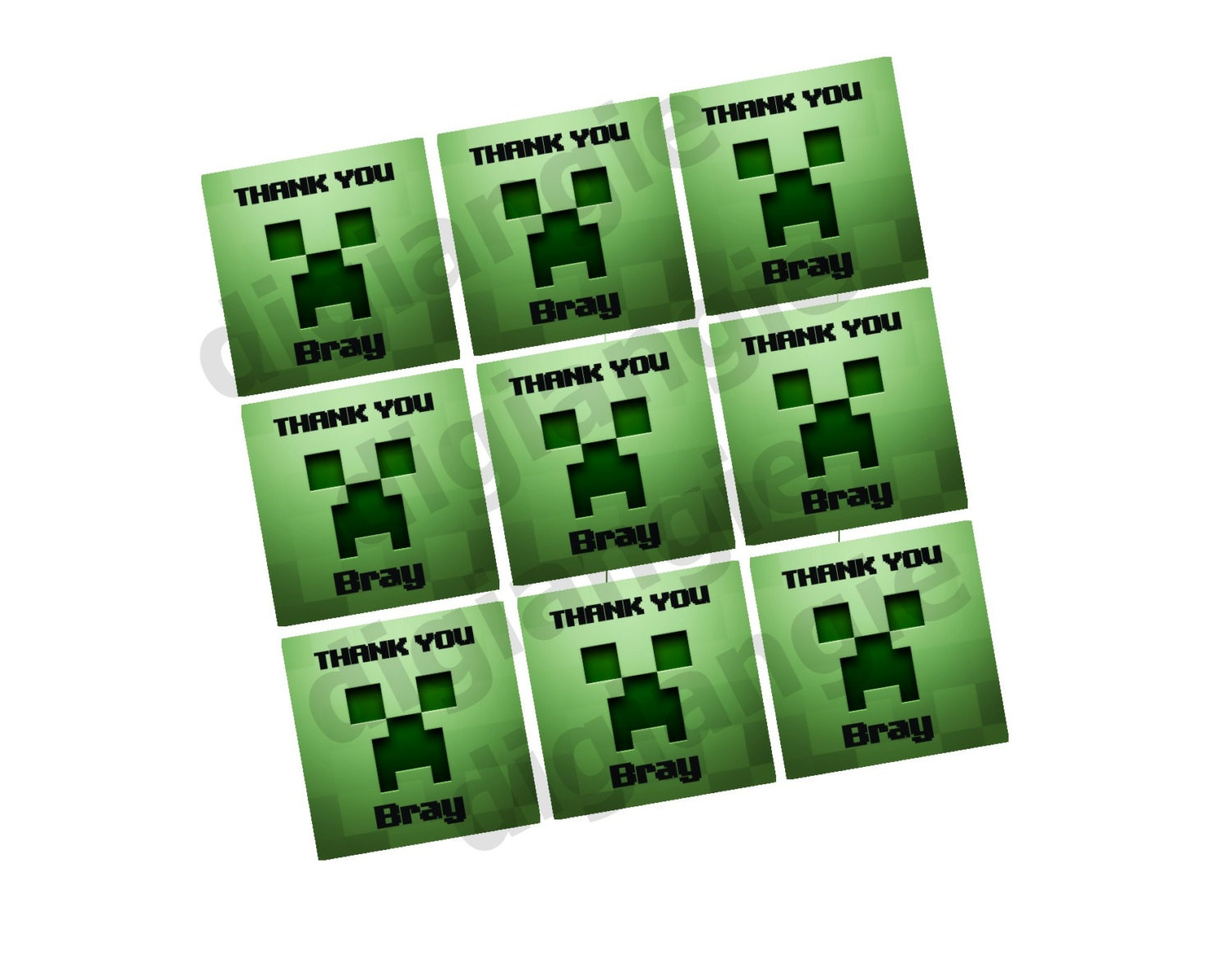 Displaying 11> Images For - Minecraft Blank Invitations...