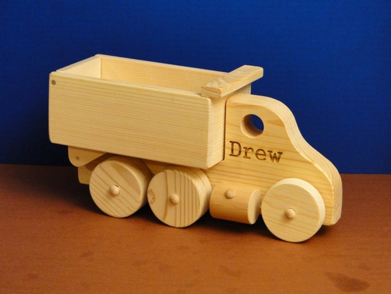 Personalized Easter Basket/ Engraved Dump Truck (0101)