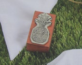 NEW Wooden Handle PINEAPPLE STAMP Weddings - Stationery - Gift Tags