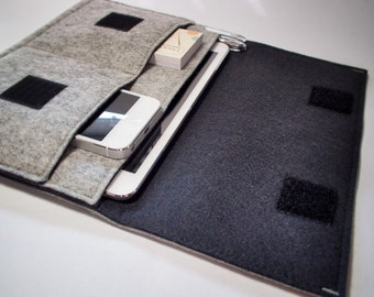 iPad Mini Case / iPad Mini Sleeve / iPad Mini Cover - Various Outer and Inner Colours - 100% Wool Felt
