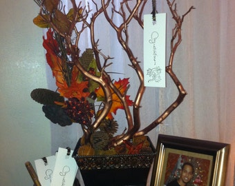 Manzanita Wedding Wish Tree Guestbook Fall In Love Theme