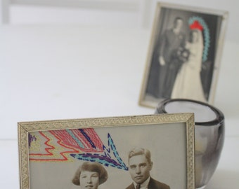 "Vintage embroidered ""Rêverie"" photo"