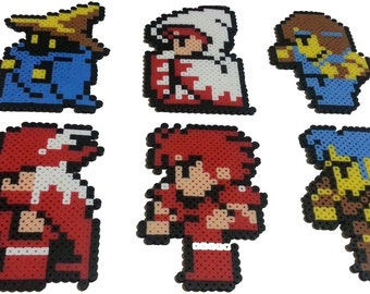 Final Fantasy 1 NES Perlers - Black Belt, Black Mage, Fighter, Red Mage, Thief, White Mage