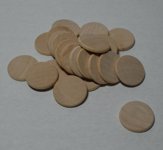 1 wood discs set of 25 wood rounds beveled edge for Wood circles for crafts