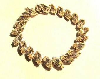 Vintage mid century  RHINESTONE BRACELET glitzy, glam jewelry!!