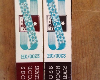 Vintage Pencil Leads,Koh-I-Noor 2200/3H 2 Boxes 11 Leads