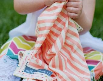 Baby girl blanket, baby girl lovey, security blanket, stroller blanket, organic lovey, organic baby gift, baby girl