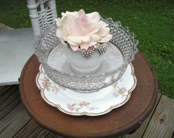 Romantic Home Decor Cottage Chic Compote