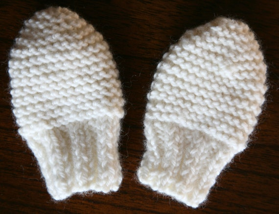 Easy Baby Mittens Knitting Pattern : KNITTING PATTERN baby mittens newborn baby girl baby boy