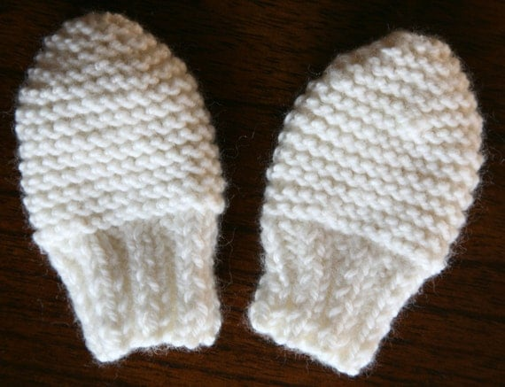 Knitting Pattern Easy Baby Mittens : KNITTING PATTERN baby mittens newborn baby girl baby boy