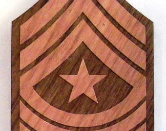 USMC Sergeant Major Insignia Wooden Fridge Magnet
