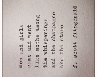 Great Gatsby Quote Typed on Typewriter