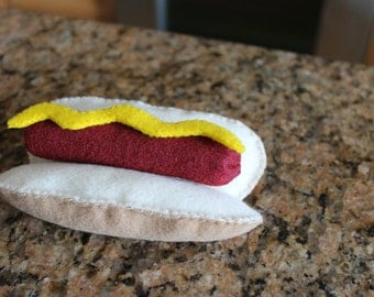 Felt Hotdog Set- Eco Friendly Felt