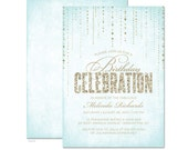 Glitter Look Birthday Party Invitations - DIY Printable or Printed Invitations