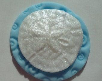 12 Edible Fondant SAND DOLLAR sanddollar Cupcake Toppers