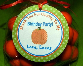 Fall Birthday Party favor tags (set 24)