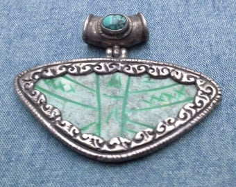 Ancient Stone, Turquoise and Sterling Pendant