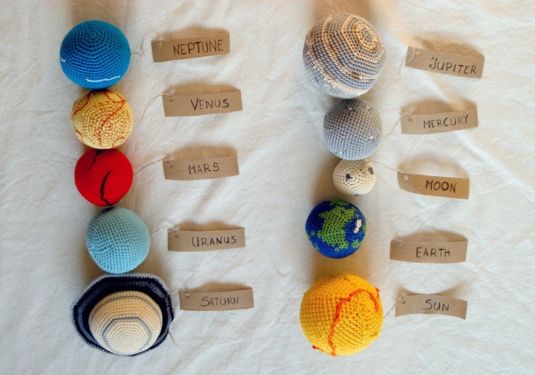 Solar System Planets Mobile Crochet Baby By Yarnballstories