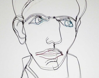 "FINAL SALE ""REDUCED"" - Wire portrait - William"